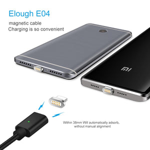 Elough E04 Magnetic USB Cable Micro Usb Type C Smartphones And iPhone - ElectroCat