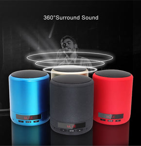 Mini Portable Bluetooth Speaker Wireless Column Bass Sound Stereo Subwoofer Handsfree AUX TF Card USB MP3 Player For Phone PC