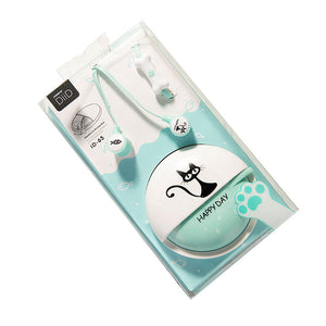 3.5mm Cartoon Cat Earphones Headset with Microphone