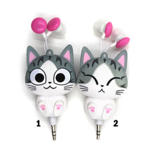 Load image into Gallery viewer, Cute Cat Earphones Earbuds 3.5MM Plug For Smartphone/Iphone - ElectroCat