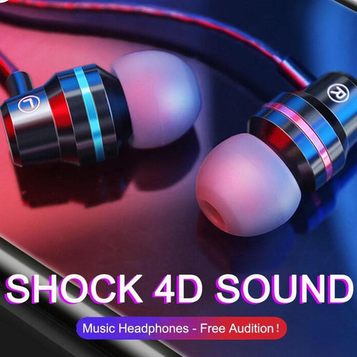 In-Ear Earphones Heavy Bass (Different Colors)