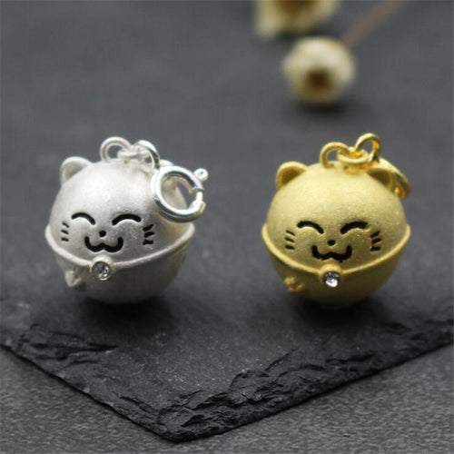 Fortune Cat Jewelry Silver/Gold Phone Charm