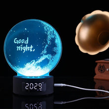Load image into Gallery viewer, Moon Night Light Bluetooth Speaker With Clock