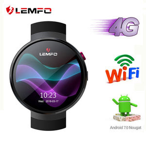 LEMFO LEM7 4G Android 7.1 Smart Watch Men 1GB + 16GB 2MP Camera GPS WIFI 580Mah Big Battery 1.39 Inch AMOLED Screen Smartwatch