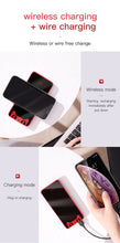 Load image into Gallery viewer, Baseus 10000mAh Qi Wireless Charger Power Bank For iPhone XS Max Samsung Xiaomi Dual USB LCD External Battery Wireless Powerbank