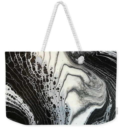 Black and White Granite Pour - Weekender Tote Bag