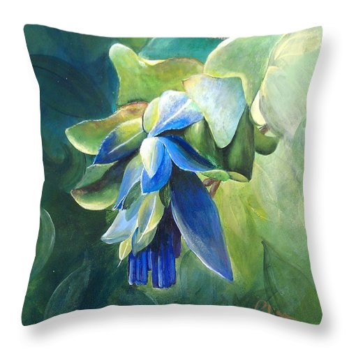 Blue Kiwi - Throw Pillow