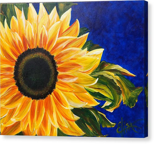 Bold Sunflower - Canvas Print