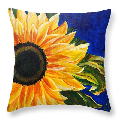 Bold Sunflower - Throw Pillow