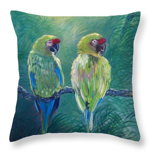 Love Birds - Throw Pillow