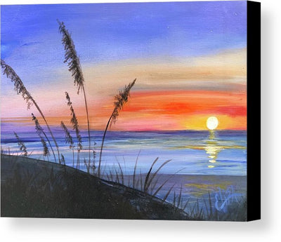 Sunset at the beach - Canvas Print