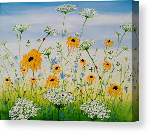 Whimsical Wildflowers - Canvas Print