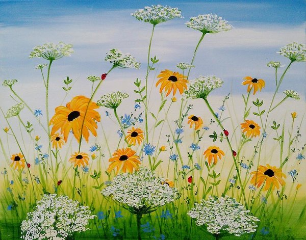 Whimsical Wildflowers - Art Print