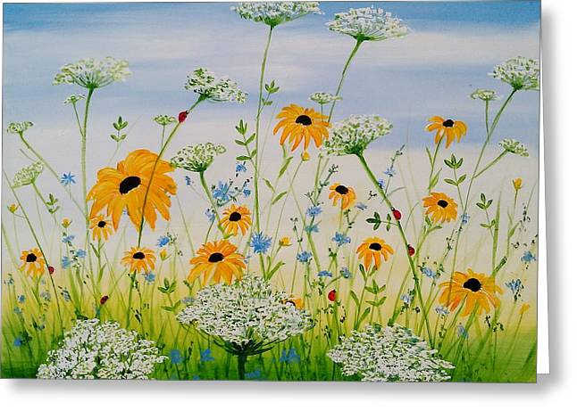 Whimsical Wildflowers - Greeting Card