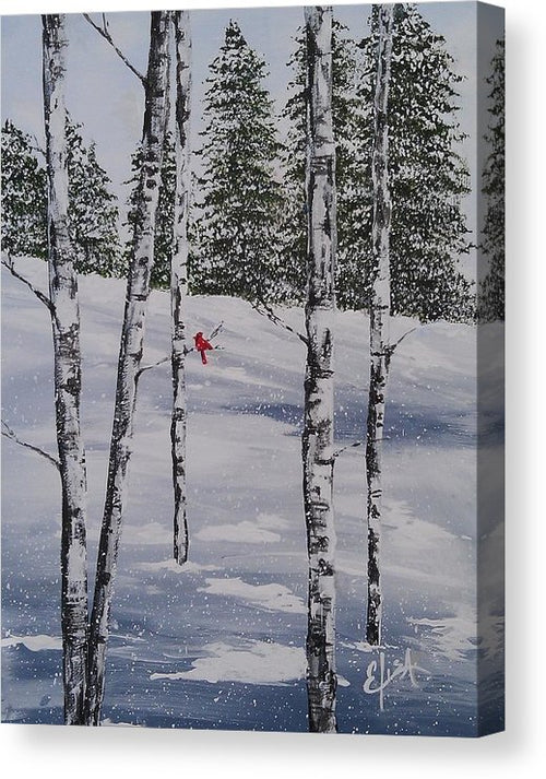 Winter Snow - Canvas Print