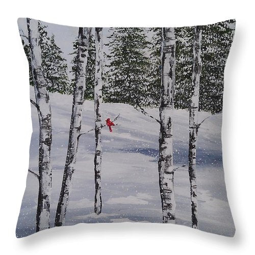 Winter Snow Cardinal - Throw Pillow
