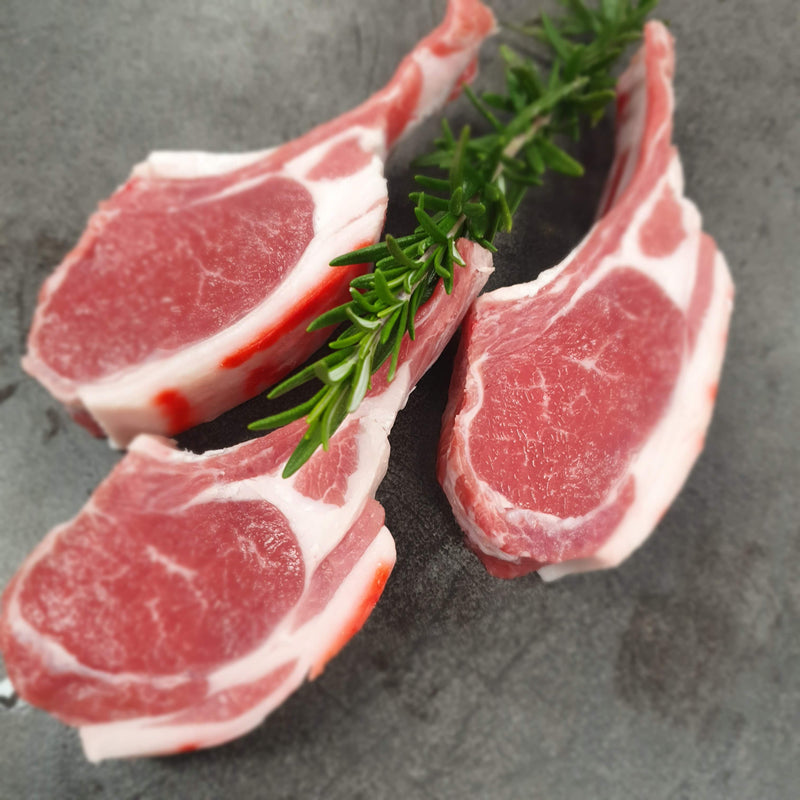 Lamb Cutlet Plain Organic -  larger approx. 80g 'cap on' portion