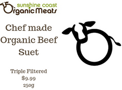 Organic Beef Suet - Chef made - triple filtered 250g per portion