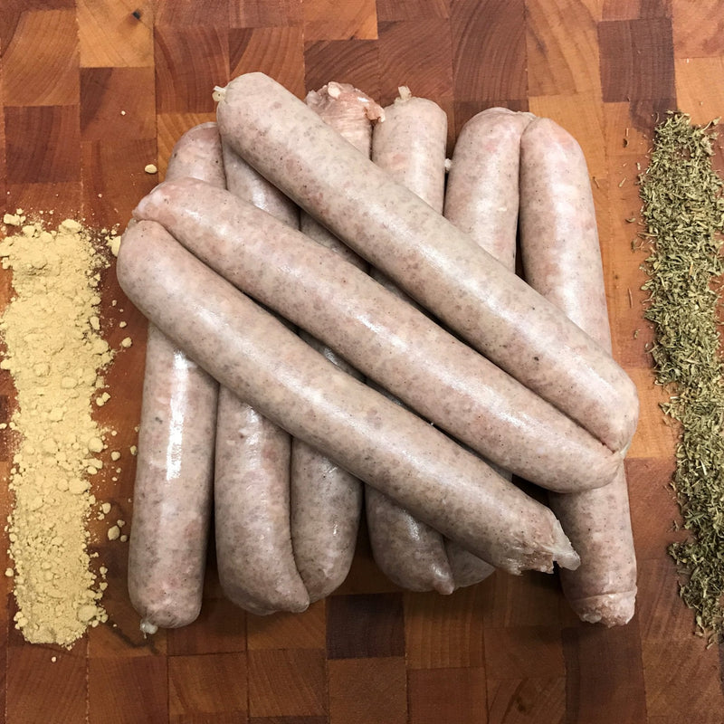 Chicken and Herb Sausages - Free Range - Preservative Free - Gluten Free