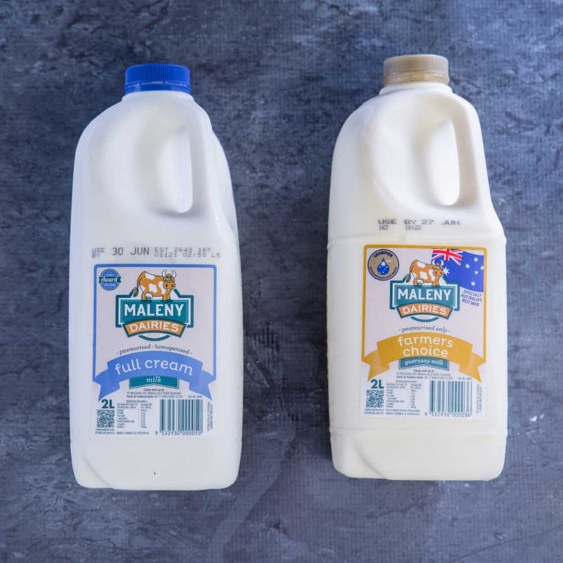 Maleny Milk - Gold Top (Non-Homogenised) - approx. 2 litre