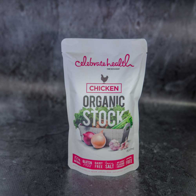 Celebrate Health Chicken Organic Stock - approx. 500ml