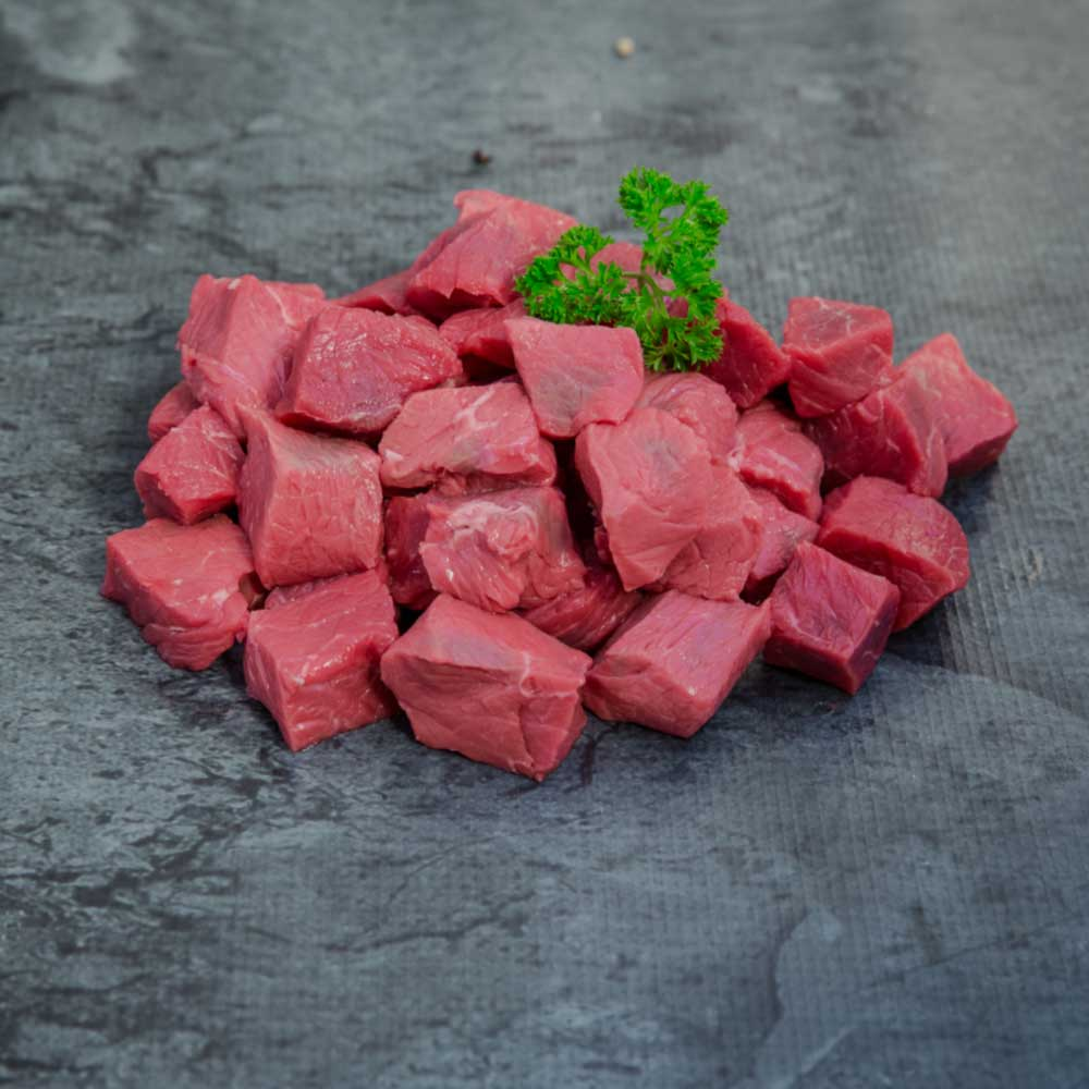Diced Beef Organic - approx  select portion size