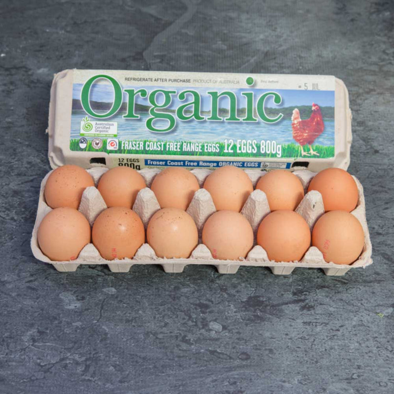 Organic Eggs - one dozen eggs - 700g