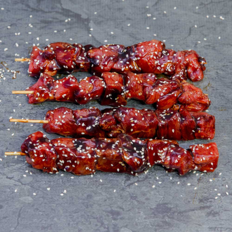 Honey Soy Beef Skewers