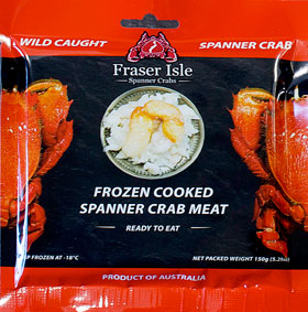 Copy of Spanner Crab - Fraser Isle - Raw - 150g