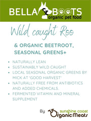 Bella & Boots - Wild Kangaroo with Organic Beetroot and Seasonal Greens +