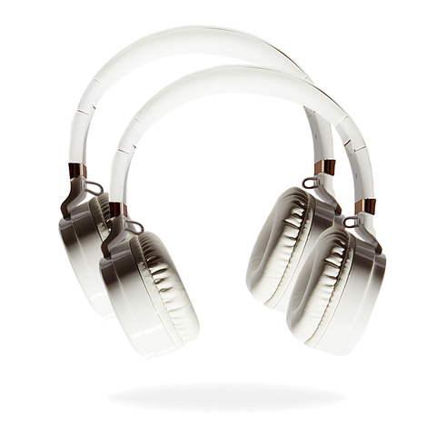 White Focus Headphones + White Focus Headphones