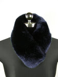 blue faux fur headband - as neck warmer