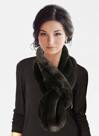 BIG & BEAUTIFUL - Pull Through Scarf - DOUBLE SIDED FUR