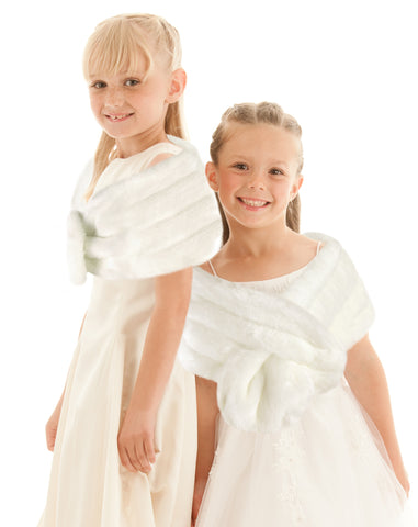 FLOWER GIRL Faux Fur Wrap - Available in 8 COLORS