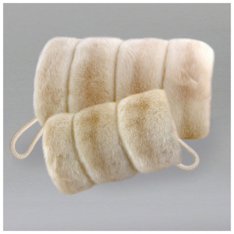 faux fur muff - beige colors