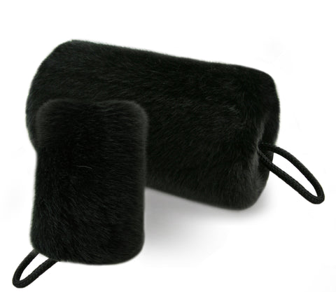 faux fur muff - black