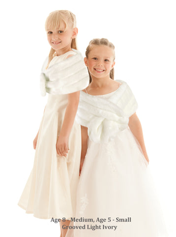 flower girl faux fur bridal wrap