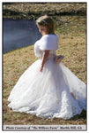 flower girl white fur wrap