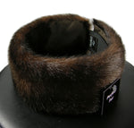mink faux fur headband - closeup