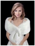 BRIDAL Faux Fur Shoulder Stole - Snow White