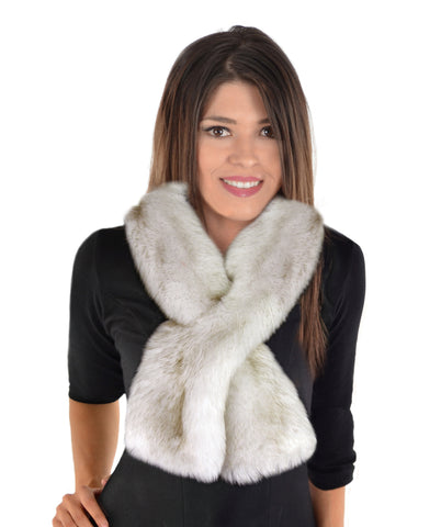 Pull Through Faux Fur Scarf - Winter Wolf