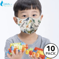 10 pcs Kid's Disposable 3D Face Mask w/ Dinosaur Deisgn