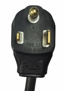 Adapter B - NEMA 6-50 plug to NEMA L6-20 receptacle