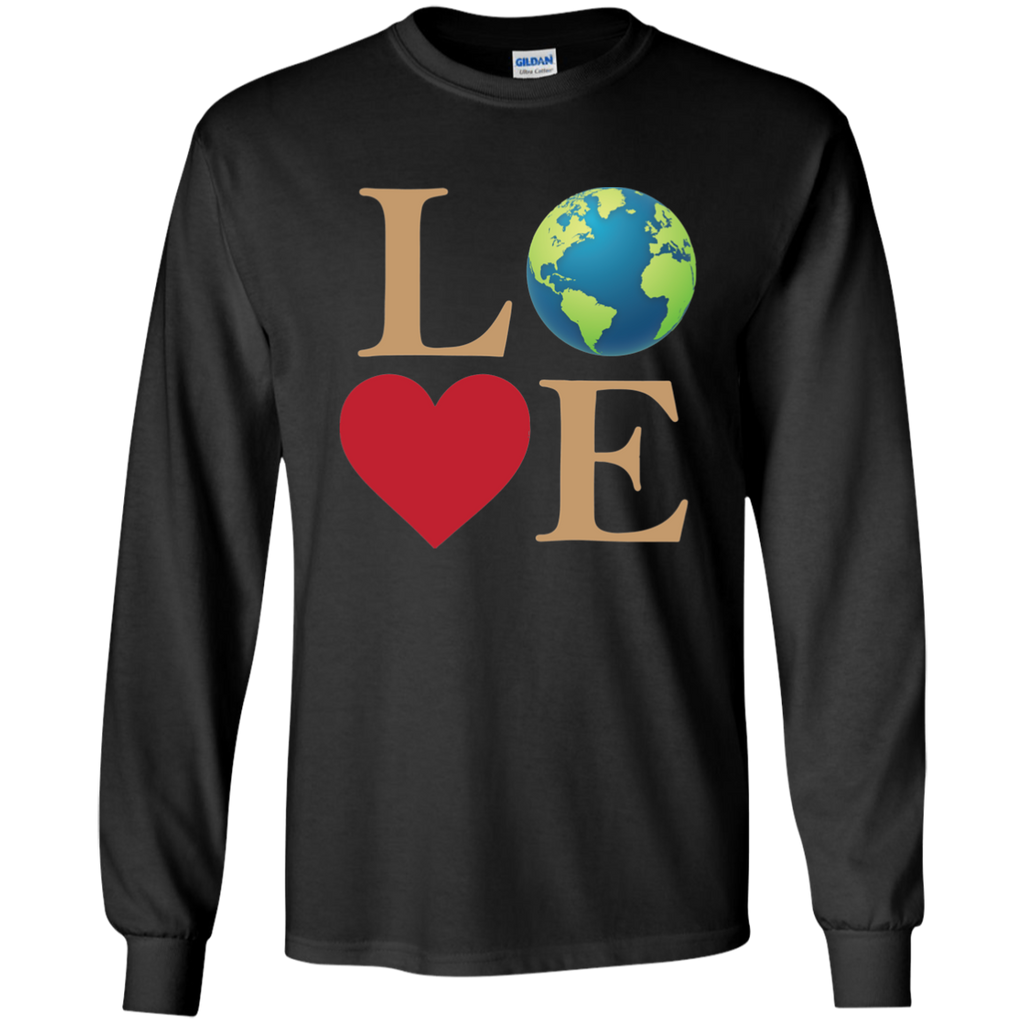 LOVE The Earth. Environmental Awareness Long Sleeve T-Shirt