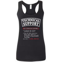 Technical Support. A Person Who Solves Problems You Can't. Woman's Science and Math Tank Top
