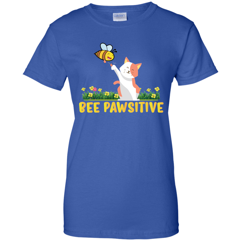 Bee Pawsitive. Women's Environmental Awareness Tee