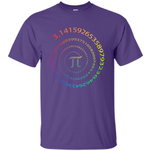 Load image into Gallery viewer, Pi. Infinite Number Spiral. Graphic Math T-Shirt