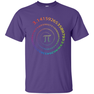 Pi. Infinite Number Spiral. Graphic Math T-Shirt