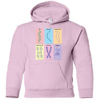 Tangled Headphones, Chromosomes. Youth Science Hoodie