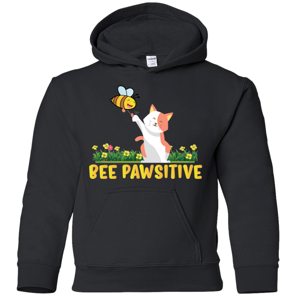 Bee Pawsitive. Environmental Awareness Youth Hoodie